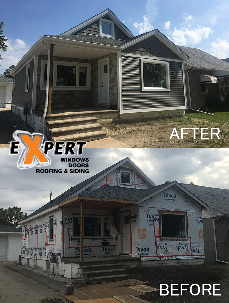 before after siding